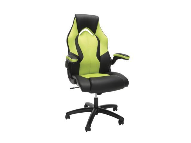 Terrific Ofm Essentials Collection High Back Racing Style Bonded Leather Gaming Chair In Green Ess 3086 Grn Andrewgaddart Wooden Chair Designs For Living Room Andrewgaddartcom