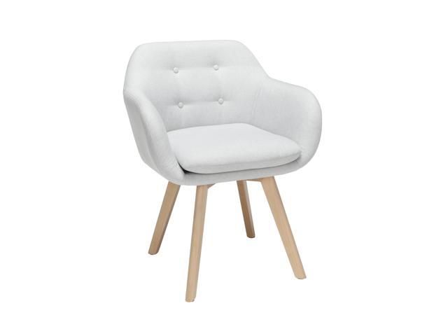 Awe Inspiring Ofm 161 Collection Mid Century Modern 2 Pack Tufted Fabric Accent Chair With Arms Dining Chair Solid Beechwood Legs In Light Gray 161 Faca Lgry 2 Machost Co Dining Chair Design Ideas Machostcouk