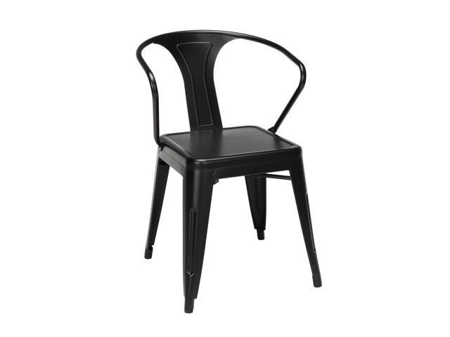 Surprising Ofm 161 Collection Industrial Modern 4 Pack Fully Assembled 18 Mid Back Metal Dining Chairs With Arms Galvanized Steel Indoor Outdoor Chairs With Unemploymentrelief Wooden Chair Designs For Living Room Unemploymentrelieforg