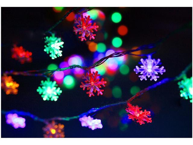 Snowflake Christmas Lights.20 Led 2m Snowflake String Lights Fairy Lights For Christmas Partys Wedding New Year Decorations Newegg Com