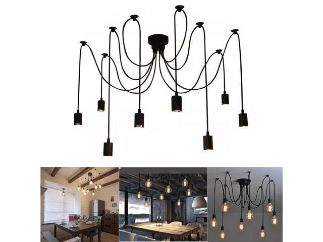 Diy Ceiling Spider Lamp E27 Ajustable 8 Arms Classic Light Retro Antique Pendant Lights For Dining Hall Bedroom