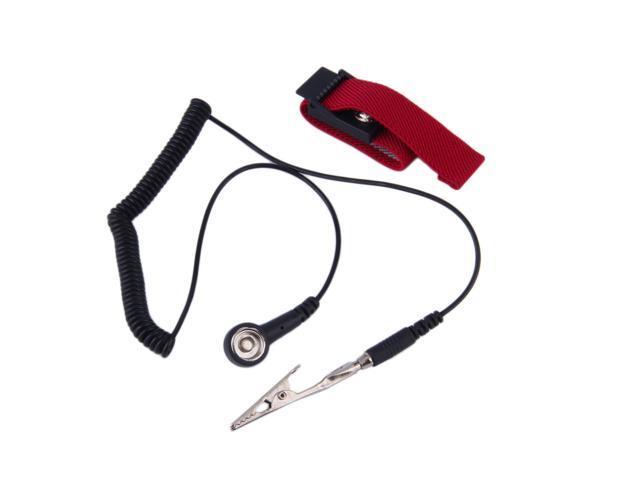 ESD Anti Statique Réglable Métal Bracelet Band Bracelet Clips Grounding