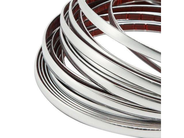 10mm x 7.5M Car Chrome Molding Trim Strip FOR Window Bumper Grille Silver Line