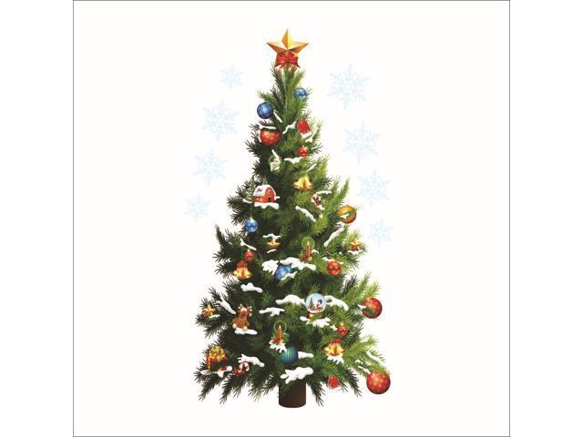 Christmas Tree Wall Stickers Christmas Decorations Removable Diy Pvc Decor Art For Home Kindergarten Shop Newegg Com