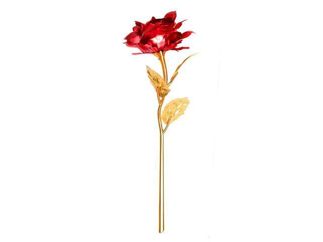 Creative Valentines Day Birthday Wedding Gift 24k Gold Plated Rose Newegg Com