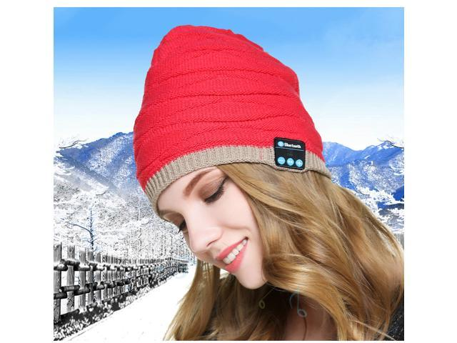Music Headphones Knitted Hat With Speakers Beanie Ipod 3.5mm Jack MP3 Warm Head