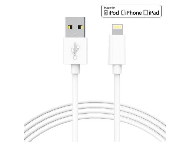 Lightning Cable 3 Pack Iphone Charging 6 Feet For X 8 Plus 7 Pluore Pvc