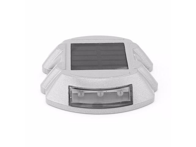 Solar LED Road Stud Light Pathway Deck Dock Driveway Garden Lamp White