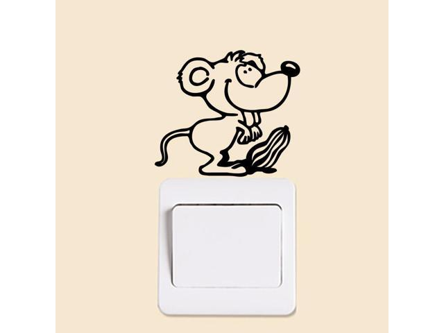 Cartoon Mouse Switch Sticker Wall Stickers Light Switch Decor Decals Art Home Decor