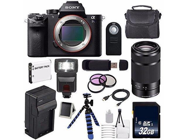 Sony Alpha a7S II a7S Mark II a7SII ILCE7SM2/B Mirrorless Digital Camera  (International Model ) + Sony E 55-210mm f/4 5-6 3 OSS E-Mount Lens (Black)  +