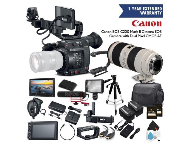 Canon EOS C200 Cinema Camera 2215C002 & 70-200mm f/2 8L IS II USM Lens,  Extended Warranty - Professional Bundle - Newegg com