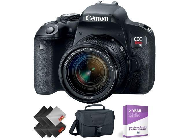 Canon Eos Rebel T7i Dslr Camera With 18 55mm Lens 1 Year Warranty