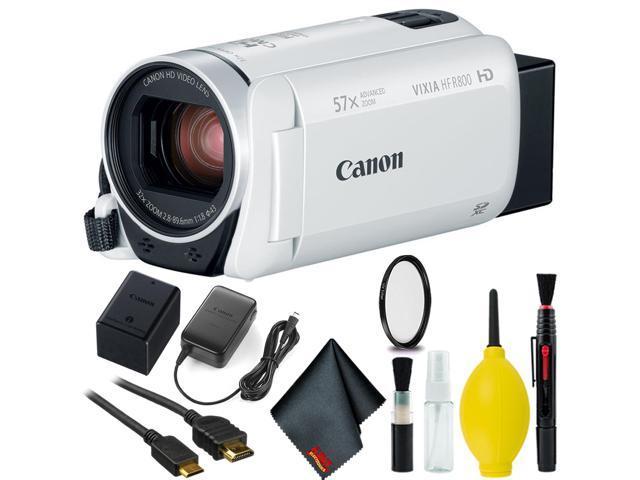 cb843a5daad Canon VIXIA HF R800 Camcorder (White) Basic Kit - Newegg.com