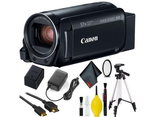 6469f22b062 Canon VIXIA HF R800 Camcorder (Black) w/ Tripod - Newegg.com