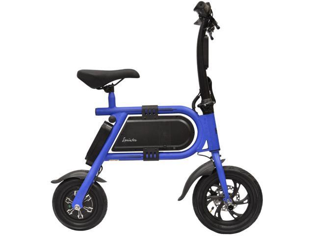 Hover-Way Collapsible 12 MPH Electric Scooter Sprinter Bike, 12 Mile Range (Blue)