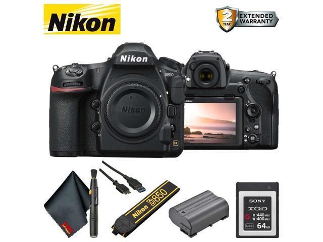 Nikon D850 DSLR Camera (Body Only) (Intl Model) Base Accessory Bundle -  Newegg com