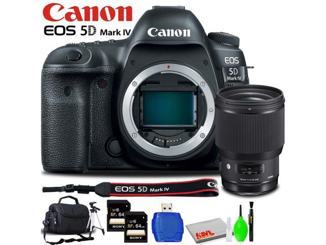 Cleaning Kit 64GB Pro UHS-1 SDXC Card LC-E6 Compact Battery Charger Canon EOS-5D Mark IV Accessory Bundle Screen Protector Consists of Canon LP-E6 N Li-Ion Battery