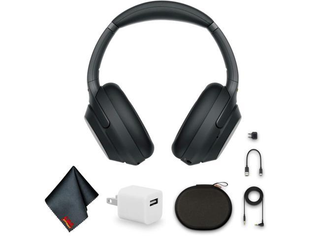 Sony WH-1000XM3 Wireless Noise-Canceling Over-Ear Headphones (Black) Bundle with USB Adapter and MORE