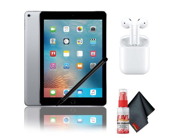 "Apple 9.7"" iPad Pro (32GB, Wi-Fi + 4G LTE, Space Gray) with Airpods 2, Stylus and Cleaning Kit"