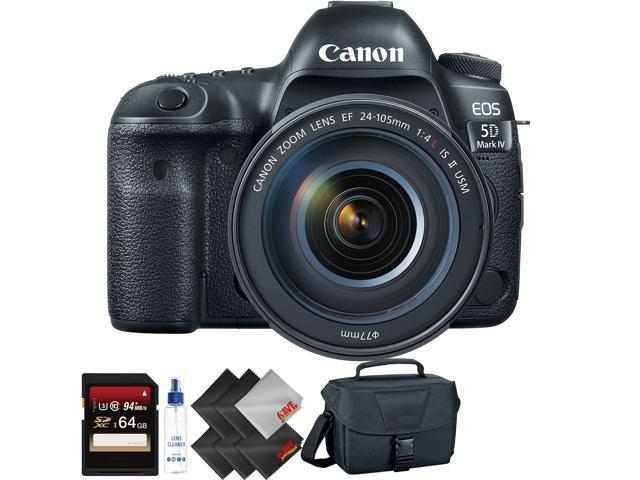 Canon EOS 5D Mark IV DSLR Camera with 24-105mm f/4L II Lens + 64GB Memory Card + 1 Year Warranty