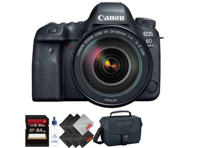 Canon EOS 6D Mark II DSLR Camera with 24-105mm f/4L II Lens + 64GB Memory Card + 2 Year Accidental Warranty