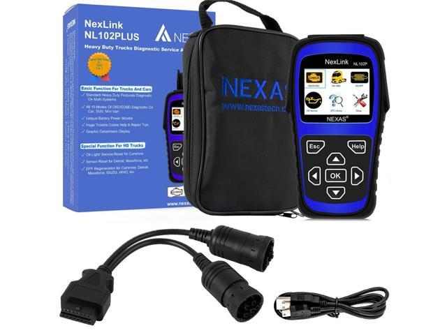 NL102PLUS Heavy Duty Diagnostic Service And DPF Tool Nexas NexLink NL102P  DPF Regenerate Oil Light Reset For Diesel Heavy Duty Trucks OBD2 Diagnostic