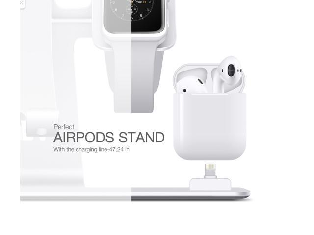 new arrival 7a252 dbd4c Bestand 3 in 1 Apple iWatch Stand, Airpods Charger Dock, Phone Desktop  Tablet Holder for Airpods, Apple Watch/ iPhone 7 Plus/ iPad,Space ...
