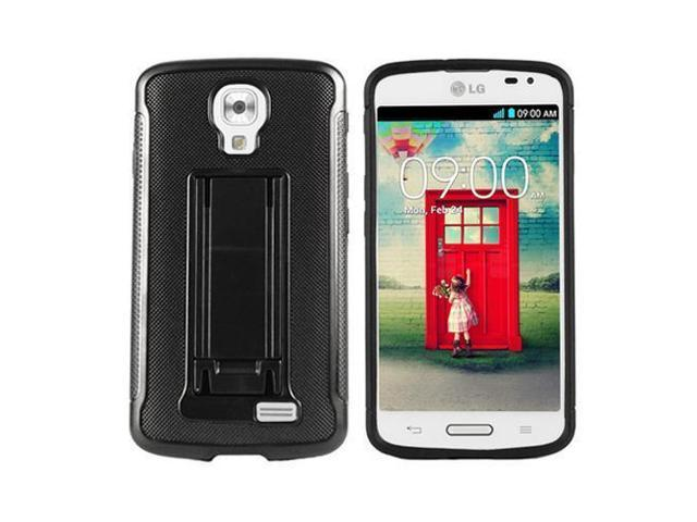 low priced 4cba0 10a9c Phone Case For Straight Talk LG Access L31G LTE Black Tough Rugged Cover  Stand - Newegg.com