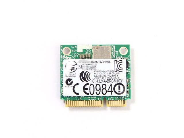 DW1510 BCM4322 BG Half-Size PCI-E Wireless Card 802 11ABGN BCM94322HM8L  Dual-Brand WIFI Card Support MAC OS X system Hackintosh not for