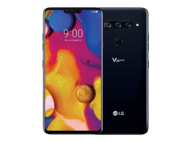 "LG V40 Thinq 64GB LM-V405UA GSM Unlocked 4G LTE 6.4"" P-OLED Display 6GB RAM Triple 12MP+12MP+16MP Smartphone - Aurora Black"