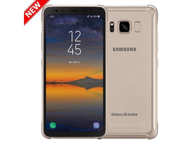 New Att Samsung Galaxy S8 Active Sm G892a 64gb Titanium Gold Neweggcom