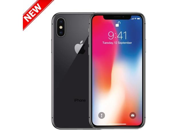 "Apple Iphone X 64GB A1901 GSM Unlocked 4G LTE 5.8"" Super AMOLED Display 3GB RAM Dual 12MP+12MP Smartphone - Space Gray - Never activated"