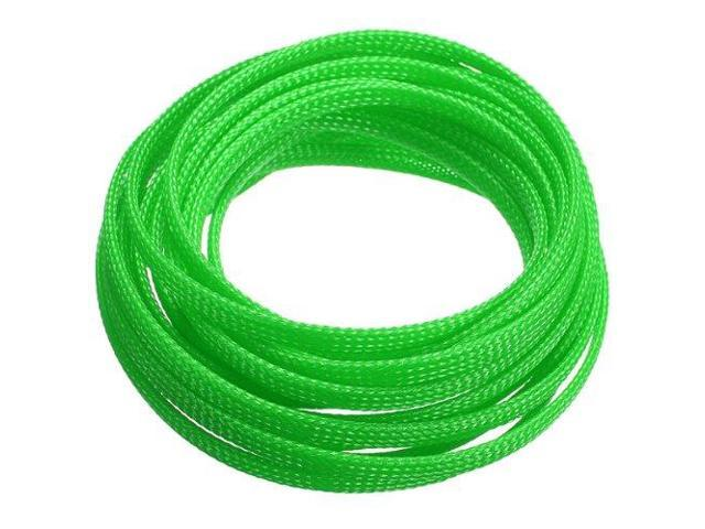 thzy 5m 4mm expanding braided cable wire sheathing sleeve sleeving harness  green