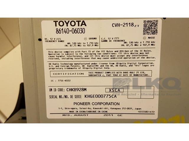 Used - Good: 2012 12 Toyota Camry Single Disc CD Player Radio OEM -  Newegg com