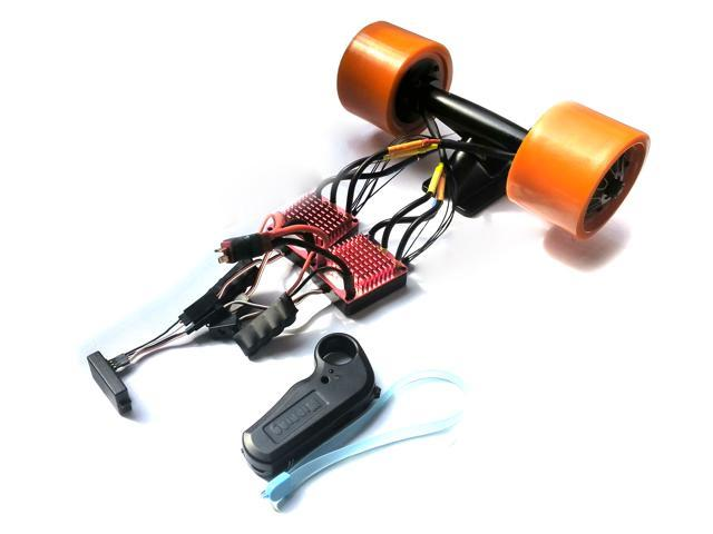 DIY Nucbot Electric Skateboard Longboard Hub Motor Kit+100A 2 ESC+ Remote  Control 5060 Motor
