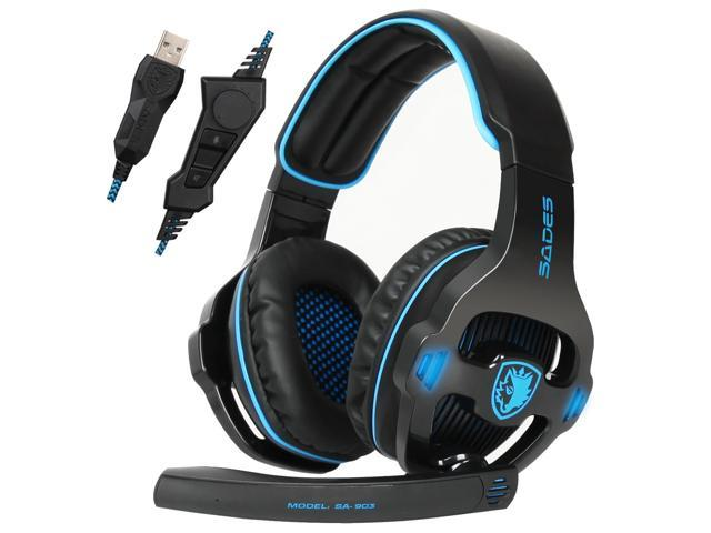 ccf2e4938ae Sades SA903S USB Gaming Headset 7.1 Surround Sound PC Gaming Headphone with  Microphone