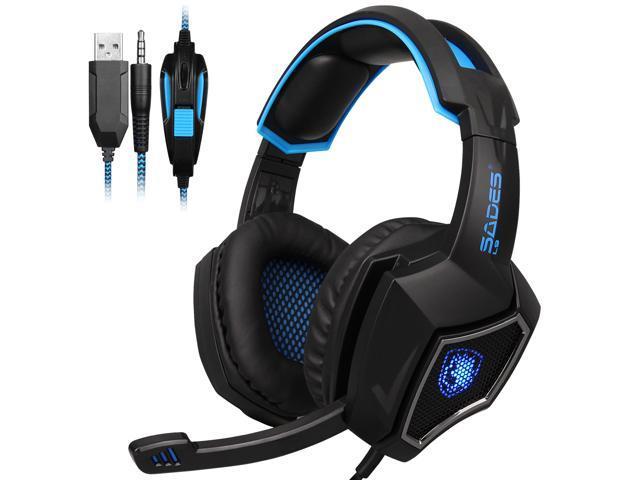 SADES Gaming Headset PS4 Xbox One Headphone PC Earphone 3.5mm Stereo Sound w Mic