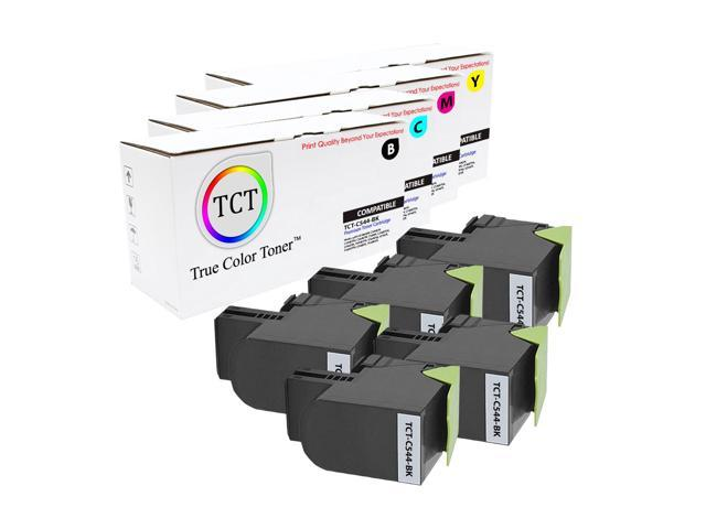 X544DTN X544DW Printers - 3 Pack Cyan, Magenta, Yellow TCT Premium Compatible Toner Cartridge Replacement for Lexmark C544 C544X1CG C544X1MG C544X1YG High Yield Works with Lexmark C544DN C544DTN