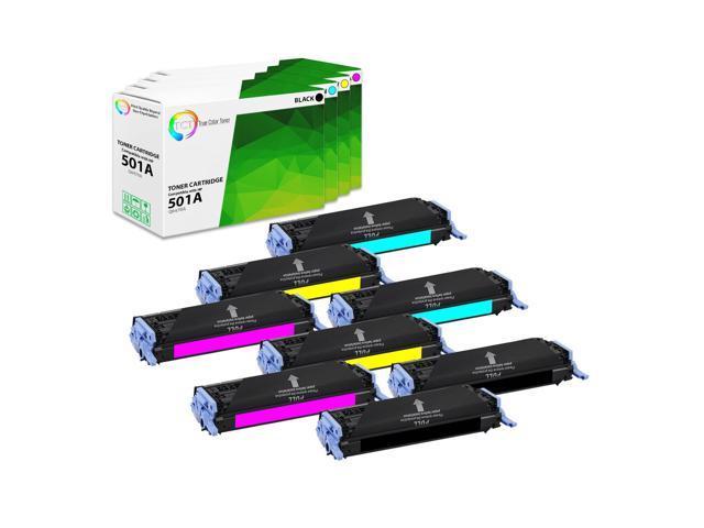 CS Compatible Toner Cartridge Replacement for HP 501A /& 503A HP COLOR LASERJET 3800DN 3800DTN 3800N CP3505 CP3505N CP3505DN CP3505X Q6470A Black Q7581A Cyan Q7582A Yellow Q7583A Magenta 4 Color Set