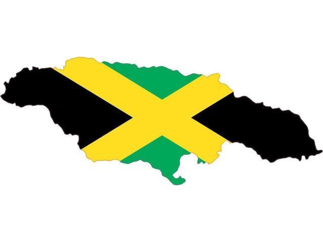 5x2 jamaica jamaican die cut flag bumper sticker decal vinyl car window stickers decals
