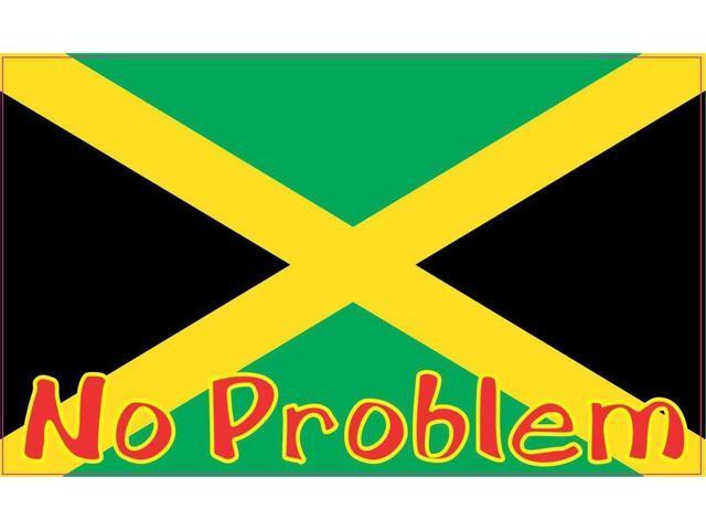 5x3 jamaica jamaican no problem flag bumper sticker decal vinyl car window stickers decals