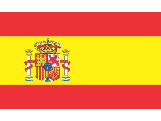 5x3 spain country españia spanish flag bumper sticker decal window stickers car decals