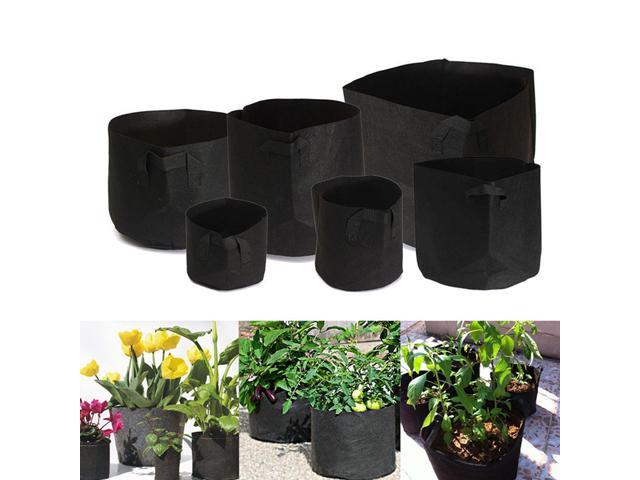 10 Pack Fabric Grow Pots Breathable Plant Bags 1 2 3 5