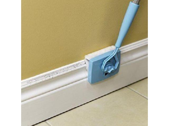 Baseboard Buddy Cleaning Mop Walk Glide Extendable Microfiber Dust Brush Cleaner