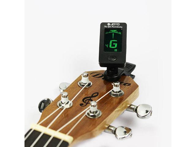 Clip-on LCD Digital Chromatic Electronic Guitar Tuner Bass Violin Ukulele  D15 - Newegg com
