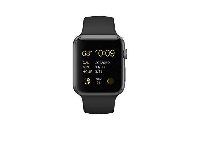 fff4706ba Apple Watch Series 1 42mm Smartwatch (Space Gray Aluminum Case, Black Sport  Band)