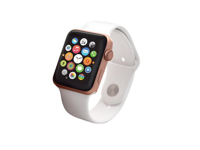 buy popular 84930 b6c55 Refurbished: Apple Watch Series 2, 42mm-Rose Gold Aluminum Case with White  Sport Band - Newegg.com