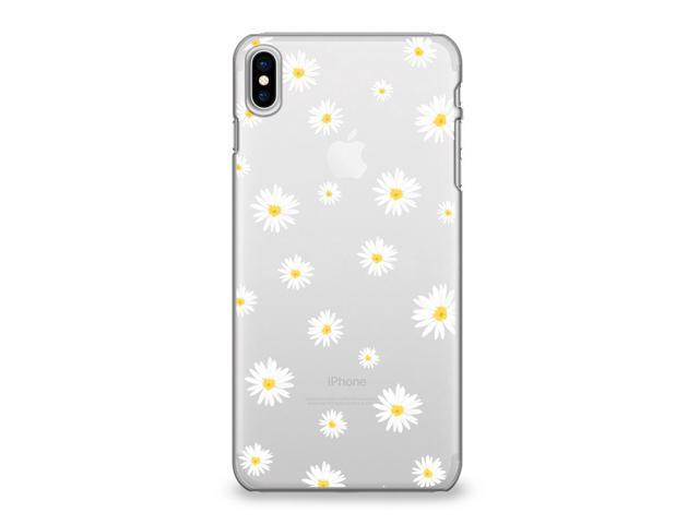 on sale d7359 be259 Apple iPhone X Case, CasesByLorraine iPhone X Cute Daisy Floral Flowers  Clear Protective TPU Case, Flexible Soft Gel Transparent Cover for iPhone X  ...
