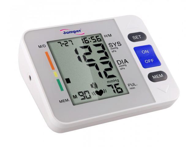 Jumper JPD-900A LCD Digital Blood Pressure Monitor Irregular Heart Beat Detector Upper Arm Cuffs