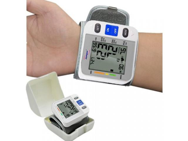 Fully Auto Pocket Blood Pressure Monitor Wrist Cuff Hypertension Jumper JPD 900W Meter 90 Memory Recall Sphygmomanometer